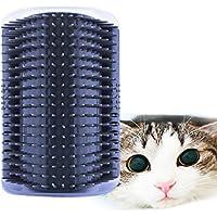 AUVSTAR Cepillo para mascotas, gatos, masaje para gatitos, rasguños, gatos, mascotas, cepillo de depilación autocosmetólogo, masaje de menta para gatos, cerdas de peinado, peine de esquina, peinado, juego de brocha para gatos y perros
