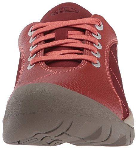 Keen Womens Presidio Leather Trainers Rot (tandori spice)