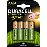 Duracell Recharge Plus Piles Rechargeables type AA 1300 Mah , Lot de 4