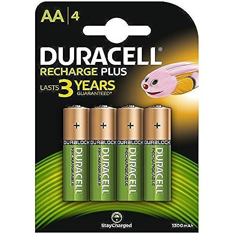 Duracell HR6-B - Pila recargable alcalina AA (paquete de 4 unidades)