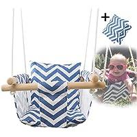 fancylande asiento columpio para bebés, bebé lienzo Balancer silla de techo de madera interior pequeña columpio cesta colgante bebé Trueshopping–Silla Vintage Bowland