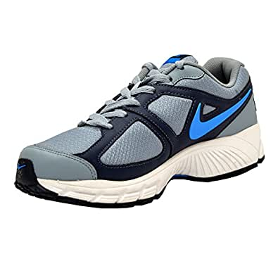 Nike Men's Air Profusion II Magnet Grey and Mid Navy Blue Running Shoes - UK 12