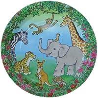 6piatti * Animali selvaggi e giungla * Per bambini compleanno di Döll Verlag//Piatti Di Carta Per Feste e compleanni per bambini leone giraffa scimmia elefante Zebra kangaruh - Giraffe Scimmia