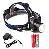 LED Stirnlampe, Kopflampe, FIGEMN Super helle LED-Lampen, CREE XML-T6 wasserdichter Scheinwerfer mit 3 Helligkeits-Modi. Perfekt zum Laufen, zum Campen, zum Wandern, zum fährt Fahrrad etc.