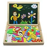 immagine prodotto Fajiabao Lavagnetta Magnetica Disegno Giocattoli di Legno Gioco Educativo Puzzle per Bambini 3 Anni