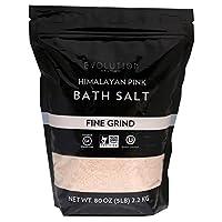 Evolution Salt Himalayan Pink Bath Salt, Fine Grind, 5 Pound