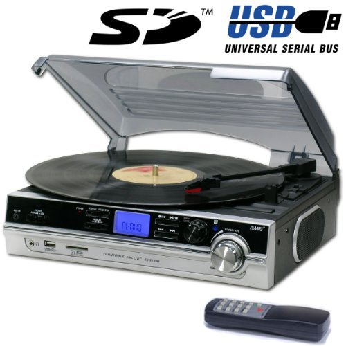 Mains adapter Included Portable//Carry Handle 1980s Style Record Player Turntable Neon Blue Built in Amp /& Speakers Nostalgic Retro Design Mains Electric or Battery