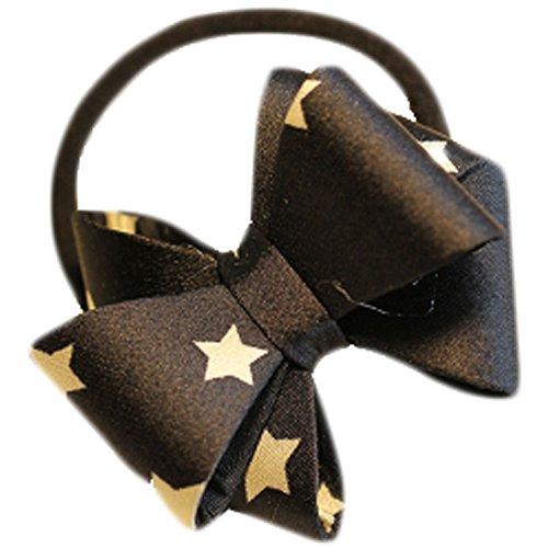 Hair Bands Mode Corde cheveux bowknot Accessoires cheveux(Black Stars)