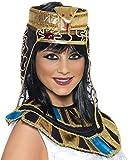 Smiffys Déguisement Femme, Coiffe égyptienne, Doré et noir, avec motif serpent, 37084