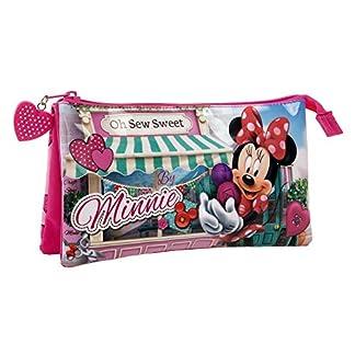 Disney Minnie Sew Estuche Tres Compartimentos, 1.32 Litros, Multicolor