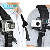 TELESIN Backpack Rec-mounts Clip Fast Clamp Mount for Gopro Hero3/4