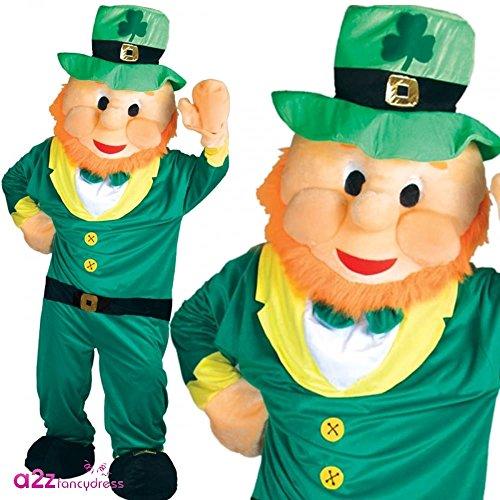 oween Karneval Fasching Verkleidung Maskottchen Tier Kostüm (Irish Leprechaun Kostüm)