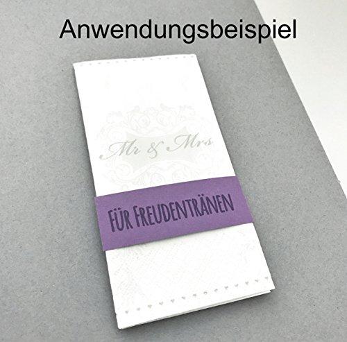 100 Taschentücher für Freudentränen auf der Hochzeit (100) - 4