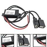 Xummy Inverter DC 12V to 5V 3A Dual USB Auto Power Regulator Step-Down