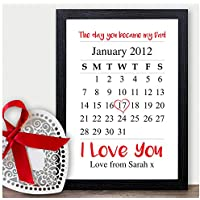 Day You Became My Dad Personalised Christmas Gifts Daddy Father Grandad Presents - PERSONALISED with ANY NAME and ANY RECIPIENT - Black or White Framed A5, A4, A3 Prints or 18mm Wooden Blocks