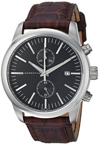 Momentum Men's Analog Japanese-Quartz Watch with Leather Strap 1M-SN26B2C