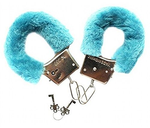 Blaue Handschellen Hände Sexy Spiele Erotische Party Kostüm Heiße Frauen Cop