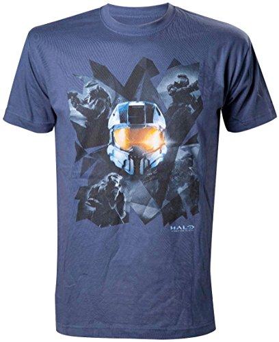 Preisvergleich Produktbild Halo T-Shirt -XL- Chestprint, blau