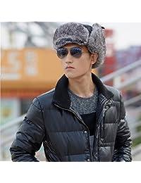XMQC*Unisex Trapper Aviador Trooper Earflap invierno cálido gorro con máscara de esquí Ruso