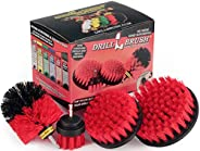 Drillbrush 4 Piece Drill Brush Cleaning Tool Attachment Kit for Scrubbing/Cleaning Tile, Grout, Shower, Bathtu