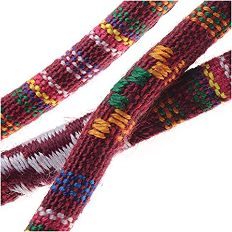 Multi-Colored Cotton Cord, Round Woven Strands 6mm Thick, 3 Feet, Red Mix