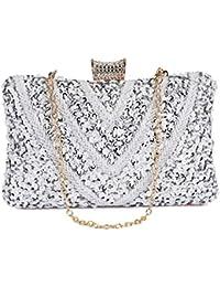 79d74072e63f3 UBORSE Damen Abendtasche Clutch Bag Pailletten Glitzer Handtasche  Umhängetasche für Hochzeit Party