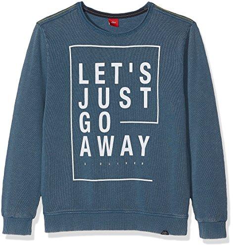 s.Oliver Jungen Sweatshirt 61.708.41.3194, Türkis (Blue Green 6940), 164 (Herstellergröße: L/REG) (Boys Pullover L/s)