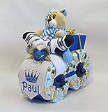 Gâteaux de couches - Couches de moto du Prince - bleu