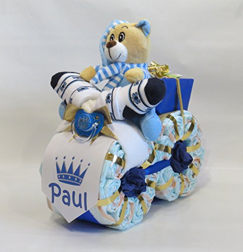 "Windeltorte - Windelmotorrad \""Prinz\"" blau"
