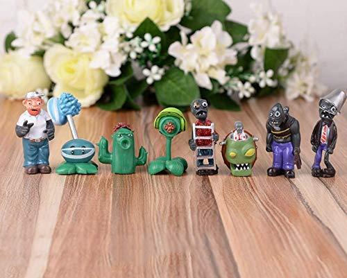 vs Zombies Figur, PVC-Spielzeug, 8 Stück, Mini-Ausstellungsspielzeug, Cupcake-Dekorationen, Partyzubehör (Pflanzen vs Zombies) ()
