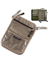 Travel Inspira Pochette avec rabat et cordon tour de cou pour ranger votre argent, votre passeport et transporter vos objets de valeur