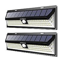 Mpow 102 LED Eclairage Solaire Extérieur éclaire la vie quotidienne!   Éclairage puissant avec efficace102 LED fournissent un éclairage superbe qui couvre une zone d'éclairage plus large. Il est beaucoup plus lumineux. Équipé d'une tête à capteur ...