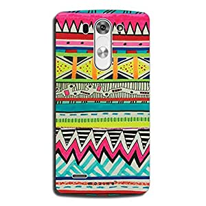 Mozine Aztec Green Blue Pattern printed mobile back cover for LG G3 Beat