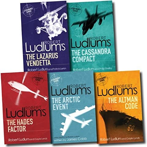 Robert Ludlum Collection Covert One 5 Books Set (Bourne Trilogy Series Author...