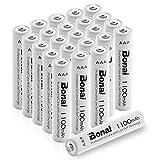 BONAI Wiederaufladbare Batterien hohe Kapazität 1100mAh AAA NI-MH Akkus(24 Stück)
