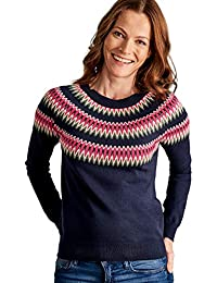056a4a7b0887 Wool Overs Pull Jacquard à Manches Raglan - Femme - Laine Mélangée