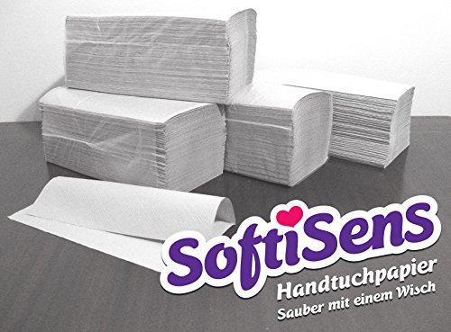 10.000 Blatt Handtuchpapier, Papierhandtücher, Falthandtücher Maße: 25x23cm, Farbe: natur