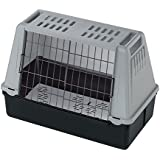 Ferplast Autotransportbox Atlas Car Mini für Hunde und Katzen – Tiertransportbox aus Kunststoff mit praktischer Zwei-Wege-Schiebetür - für Tiere bis zu 10 kg – Maße: 72 x 41 x 51cm