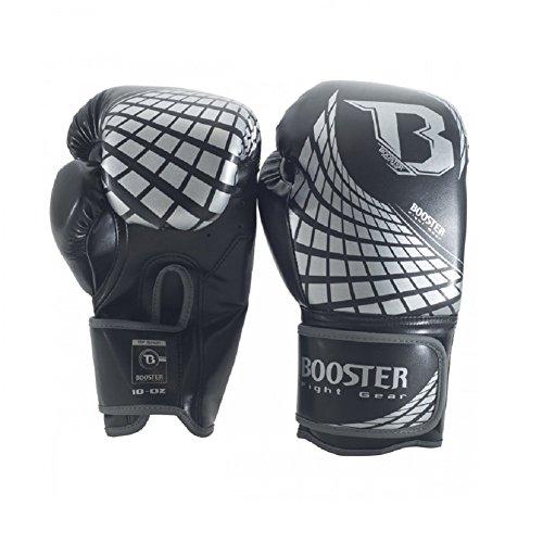 Booster Boxhandschuhe Cube - Silver - Boxhandschuhe MMA Kickboxen Sparring Muay Thai (12oz)