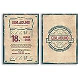 (10 x) Einladungskarten Geburtstag Vintage Retro Alt originell Karte Einladungen