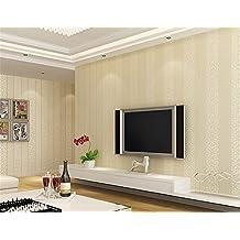 ufengke No Tejido Rayas Verticales Espesar 3D Bronceadores Flocado Papel Pintado Mural Para Dormitorio Sala de Estar