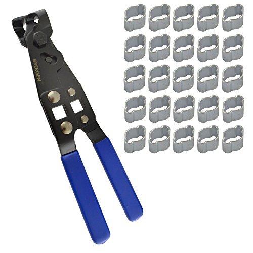 Oreja doble tubo abrazaderas abrazaderas de tubo flexible 5-7mm 25 pcs Y JUNTA HOMOCINÉTICA PINZAS DE ARRANQUE