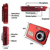 "Digital Camera, ETTG Mini 18MP 2.7"" 8 Zoom Anti-shake Full HD Digital Camera Family Recording-Red"