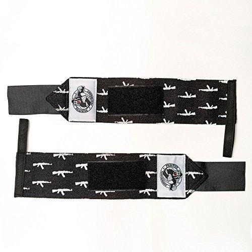 Universal Wrist Wrap (Primitive Performance Gewichtheben Wrist Wraps-Verstellbarer Klettverschluss und Daumenschlaufe, Ideal für Crossfit, Powerlifting, Bodybuilding, und allgemeine Gewicht Training, AK-47)