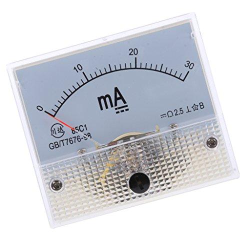 Baoblaze DC Analog Panel Ampere Aktuellen Zähler Amperemeter Messgerät - 0-30mA Ampere Panel