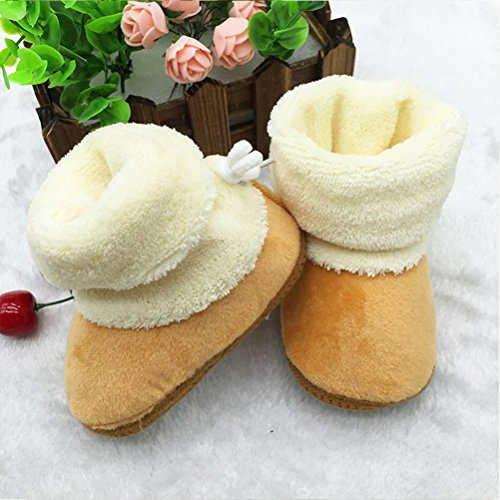 Keep Boots Sole Snow Shoes Girl Soft Baby Toddler Crib Coffee Zhhlinyuan Warm wX0FEnq