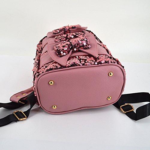 Meliya, Borsa a zainetto donna, Silver (argento) - FS-bb-01280-02YA Pink