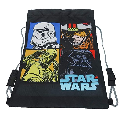 Image of Star Wars Trainer Drawstring Bag, 39 cm, Black