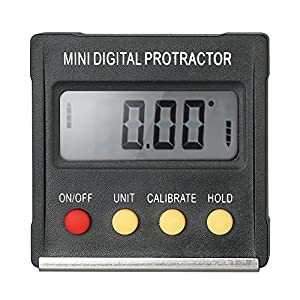 51TsJSui7HL. SS300  - Fesjoy Multifuncional Mini Pantalla Digital Transportador Inclinómetro Medidor de nivel Resolución de 0,1 Grados y rango Inferior de 4 * 90 Grados con imán