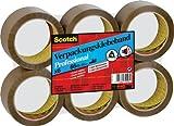 Scotch PP5066B6 Verpackungsklebeband PP, lösungsmittelfrei, 66 m x 50 mm, 6 Rollen in Folienverpakung, braun